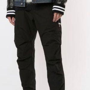 BALMAIN Chino Cargo Black Trousers Size 50/34